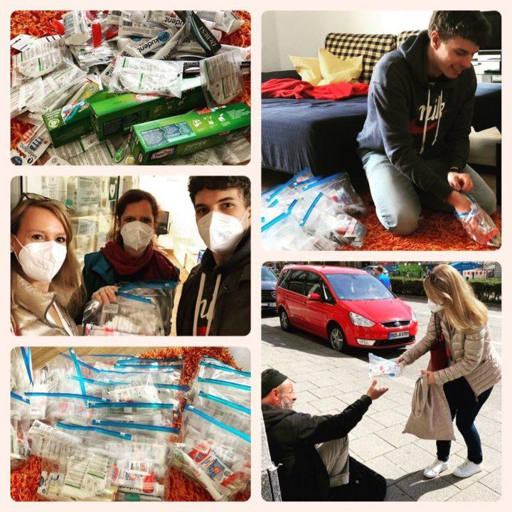 Masken & Hygienepakete für Menschen ohne Obdach